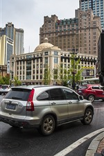 Preview iPhone wallpaper Dalian, city, street, road, cars, China