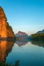 Danxia Mountain, Shaoguan, Guangdong, lago, natureza paisagem, China