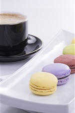 Preview iPhone wallpaper Dessert, cakes, macarons, coffee