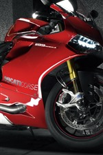 Preview iPhone wallpaper Ducati 1199 red motorcycle