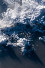 Preview iPhone wallpaper Earth, top view, clouds