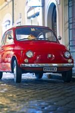 FIAT red retro car
