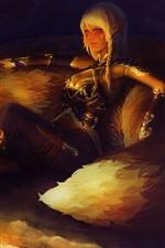 Fantasia menina e raposa, elfo, fogo