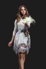 Far Cry 5, menina, saia branca, magia, fundo cinza