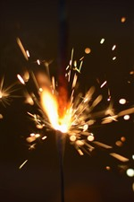 Preview iPhone wallpaper Fireworks, sparks, shine