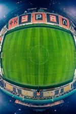 Preview iPhone wallpaper Football Stadium, from top view, night