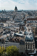 iPhone fondos de pantalla Francia, paris, paisaje urbano, camino, edificios