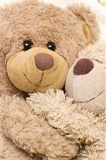 Preview iPhone wallpaper Furry teddy bears, hug