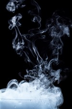 Preview iPhone wallpaper Glass cup, smoke, steam