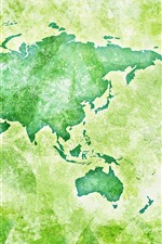 Preview iPhone wallpaper Global map, green style