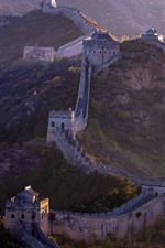 Preview iPhone wallpaper Great Wall, mountains, high, ruins, China