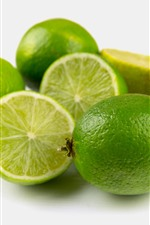 Preview iPhone wallpaper Green limes, fruit, gray background