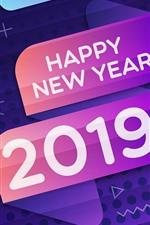 Feliz Ano Novo 2019, cores, design