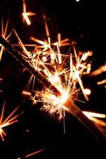 Holiday, sparks, fireworks, night