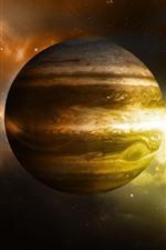 Júpiter, estrelas, espaço