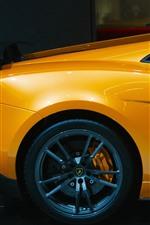 미리보기 iPhone 배경 화면 람보르기니 노란색 자동차 후면보기, 휠
