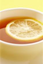 Preview iPhone wallpaper Lemon tea, cup, hazy