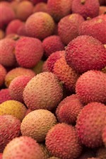 Preview iPhone wallpaper Litchi, fruit