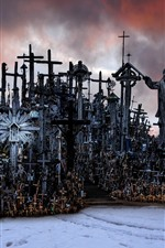 Preview iPhone wallpaper Lithuania, Hill of Crosses
