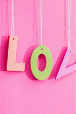 Preview iPhone wallpaper Love, pink background