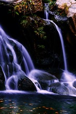 Lushan, waterfall, water, China