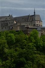 미리보기 iPhone 배경 화면 룩셈부르크, Vianden, 성