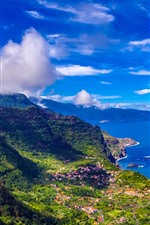 Preview iPhone wallpaper Madeira, Portugal, city, sea, mountains