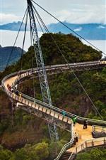 Preview iPhone wallpaper Malaysia, Langkawi Sky Bridge