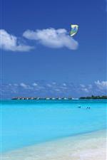 Maldivas, mar azul, praia, resort