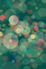 Preview iPhone wallpaper Many glare circles, abstract