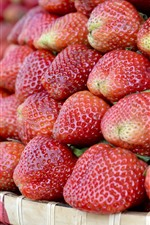 Preview iPhone wallpaper Many strawberries, basket