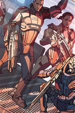 Preview iPhone wallpaper Mass Effect, art drawing, soldiers