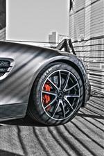 Preview iPhone wallpaper Mercedes-Benz car front wheel
