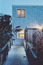 Preview iPhone wallpaper Night, house, grass, lights