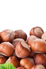 Preview iPhone wallpaper Nuts, chestnut, white background
