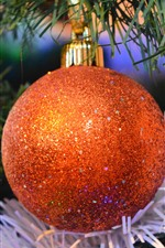 Preview iPhone wallpaper Orange Christmas ball, shine