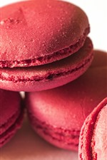 Preview iPhone wallpaper Pink macaron, cakes