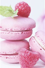 Preview iPhone wallpaper Pink macarons, cakes, rose