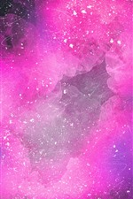 Preview iPhone wallpaper Pink space, clouds, abstract