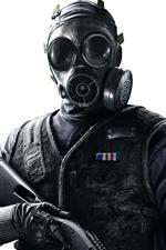 Rainbow Six Siege, soldado, máscara de gás