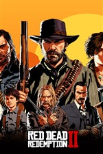 Preview iPhone wallpaper Red Dead Redemption 2, art picture