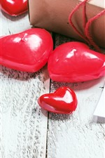 Red love hearts, gifts