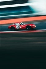 Preview iPhone wallpaper Red sport car, racing, speed