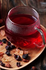 Preview iPhone wallpaper Red tea, cup, drinks
