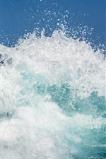 Preview iPhone wallpaper Sea, waves, water splash, water droplets