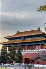 Preview iPhone wallpaper Shenwumen, North Gate of the Forbidden City, Beijing, China