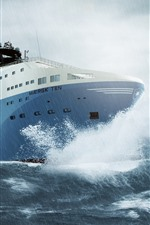 Ship, sea, storm, rain