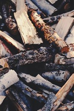 Preview iPhone wallpaper Some firewoods, wood