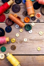 Some thread rolls, buttons
