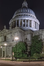 Preview iPhone wallpaper St. Paul's Cathedral, London, England, city night
